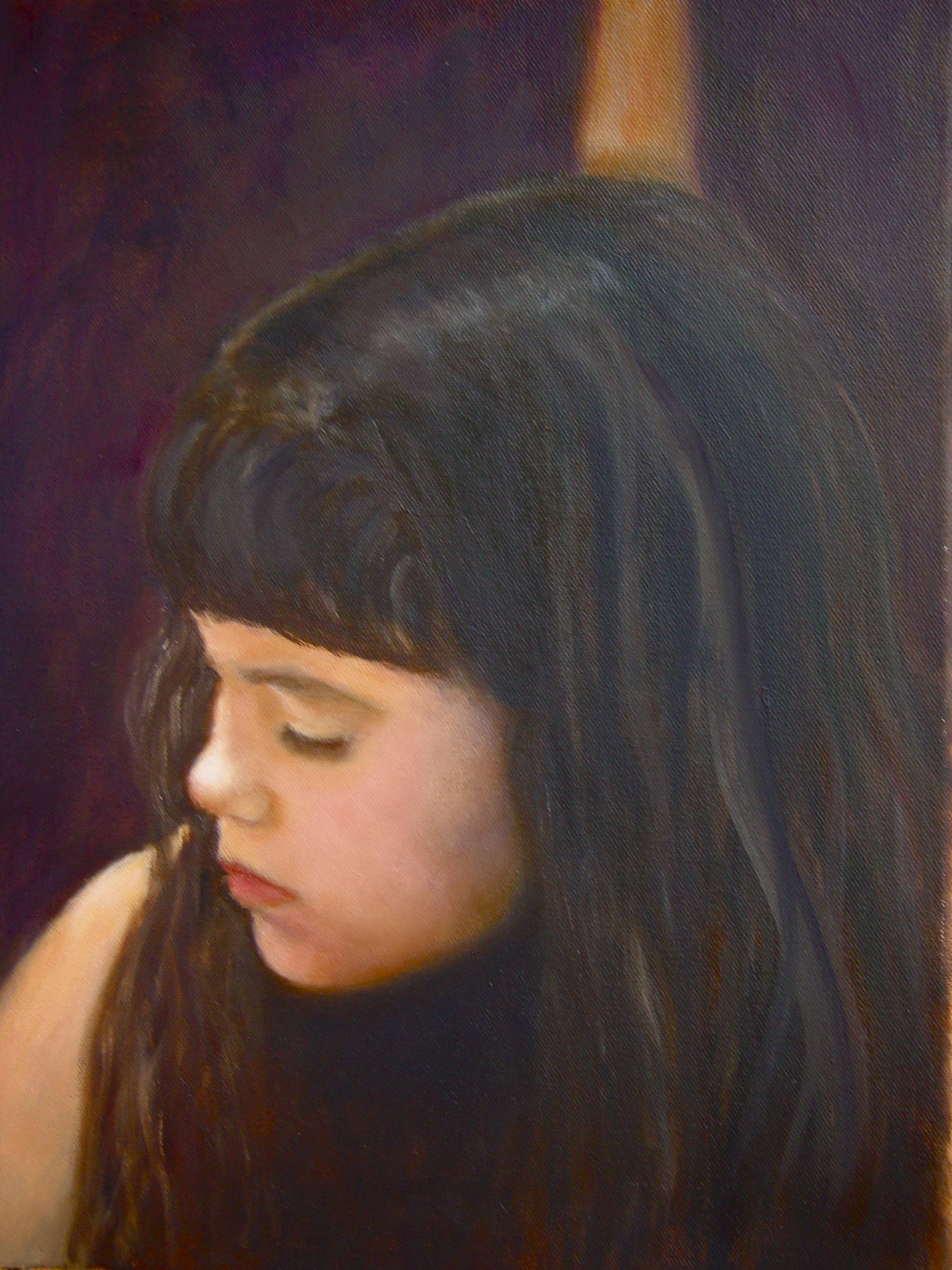 "Chiara Coloring<br> Oil, 16"" x 20""  (NFS)"